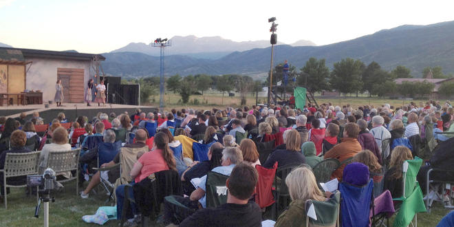 View of Mt. Timpanogos from the High Valley Arts Outdoor Theater